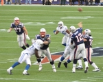 Tom Brady (12) and squad was spot on once again as the Patriots dominated Indianapolis on Sunday night. Photo - Jack Newton, Wikipedia CC